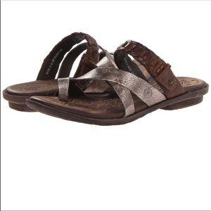Born Makai Two Tone Leather Sandals